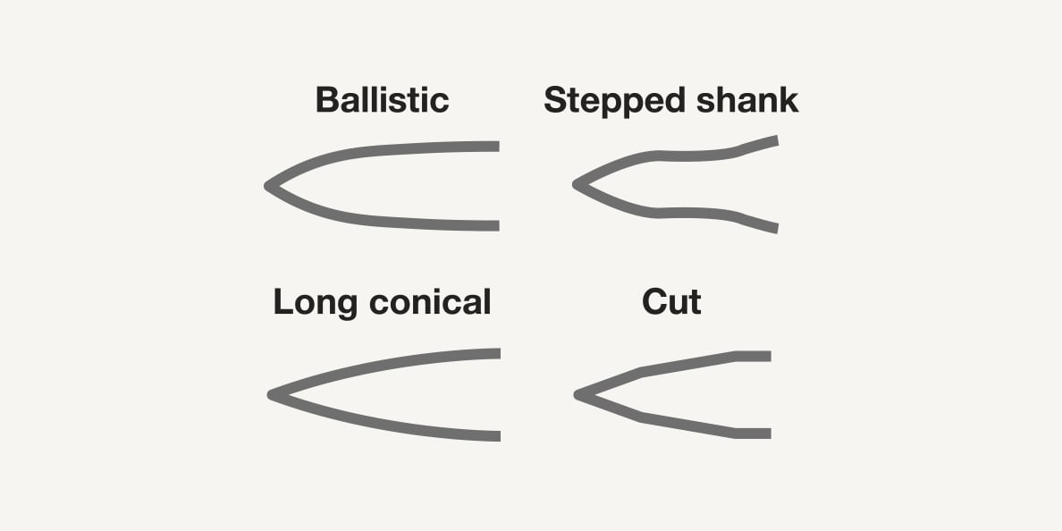 Nail tip shapes