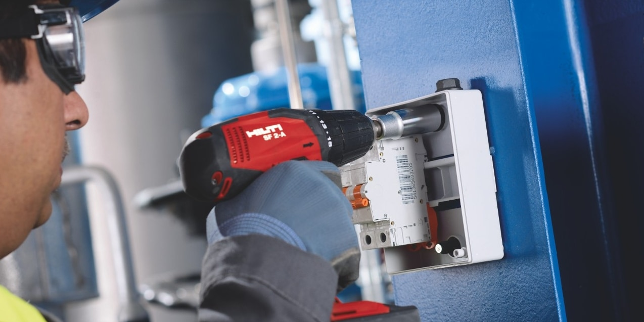 Hilti fastening solutions for electrical boxes