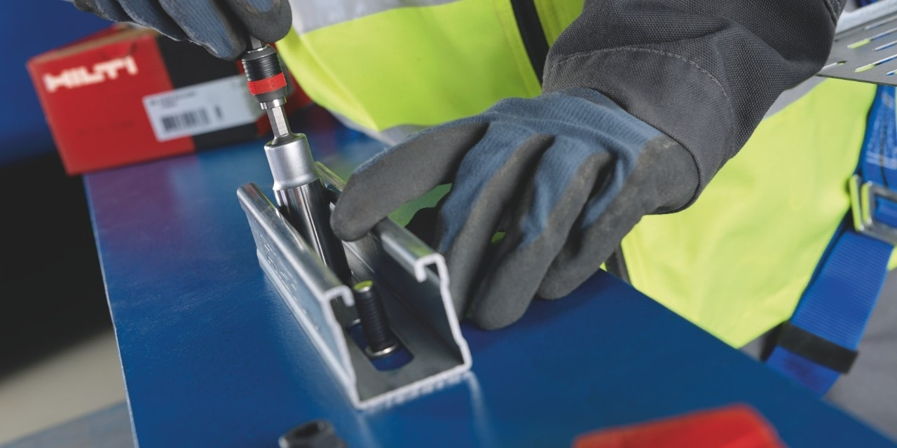 Hilti fastening solutions for fastening channels, brackets and consoles