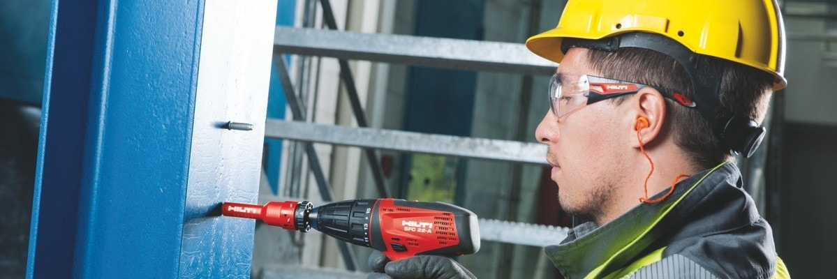 Hilti fastening solutions for fastening electrical equipment to steel