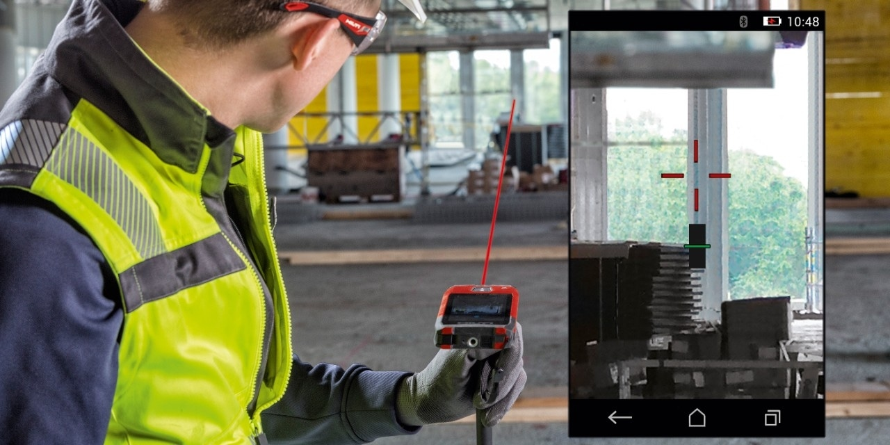 Hilti PD-CS laser range meter camera targeting functionality
