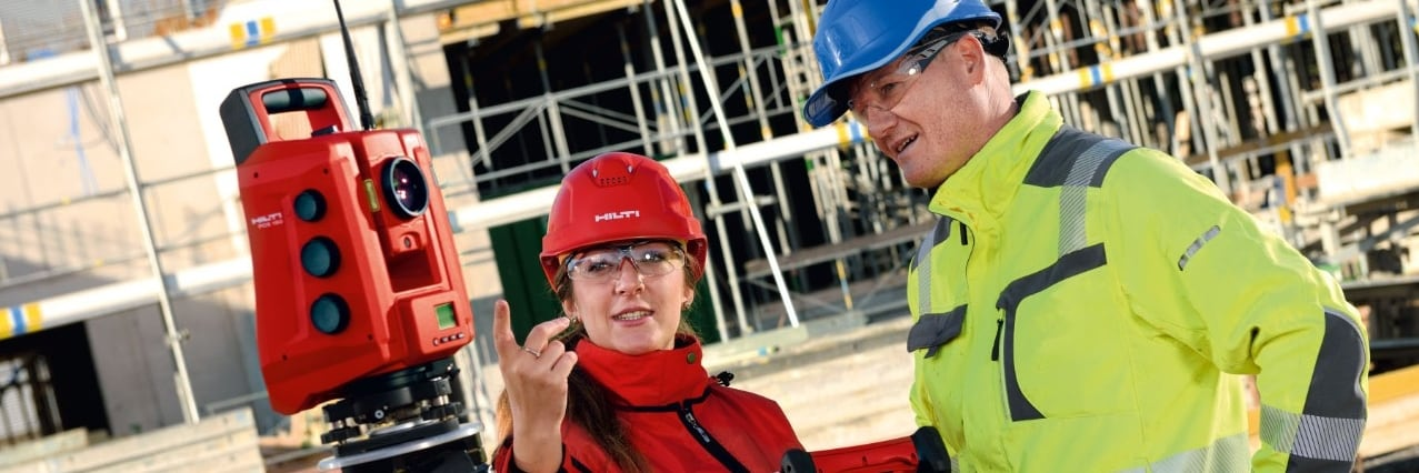 Hilti advanced layout training onsite