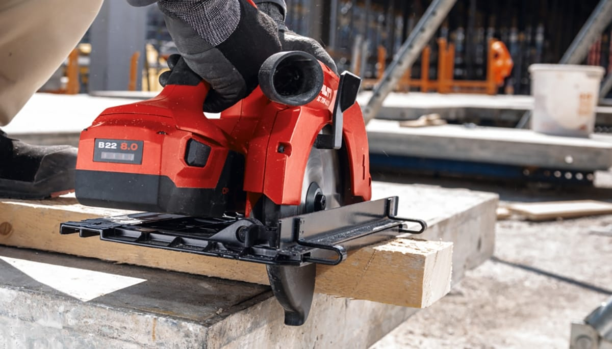 Less time is required for charging with the new B22 batteries from Hilti