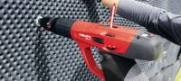 X-C P8 Premium single nail for fastening to concrete using powder-actuated tools Applications 4