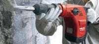 TE 500-X Versatile Hex 17 wall breaker for light-duty chiseling in concrete and masonry Applications 2