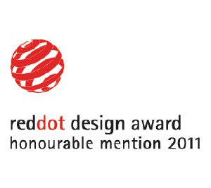 "This product has been awarded the ""Honourable Mention"" Red Dot Communication Design Award"